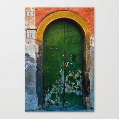 Magic Green Door In Sici… Canvas Print