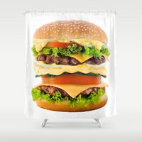 Cheeseburger YUM Shower Curtain