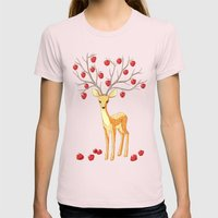 Autumn Fawn Womens Fitted Tee Light Pink SMALL