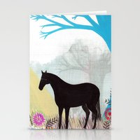 The Stillness Of Horses Stationery Cards