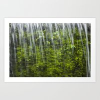 1046188 Cascading Water Art Print