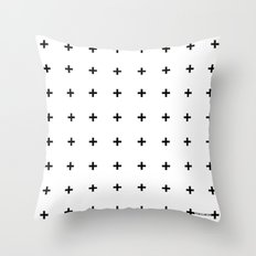 Black Plus On White /// … Throw Pillow