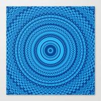 Kaleidoscope Blues Patte… Canvas Print