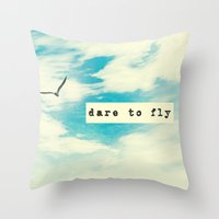 Dare to Fly II Throw Pillow