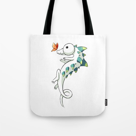 Crocodile and a Butterfly Tote Bag