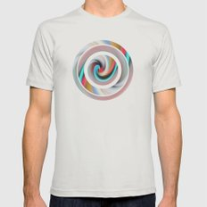 Whirl #2 Mens Fitted Tee Silver SMALL