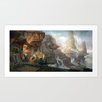 Canyon City In The Cloud… Art Print