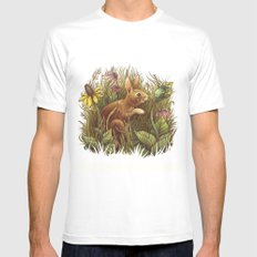 The Cottontail and the Katydid Mens Fitted Tee White SMALL