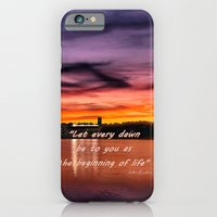 Sun dusk over Boston College iPhone 6 Slim Case