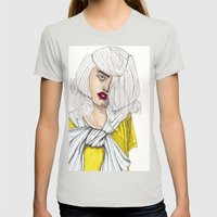 Fashion Illustration - P… Womens Fitted Tee Silver SMALL