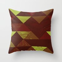 Dimensional Wood Throw Pillow