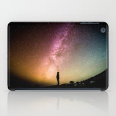 silhouette man stars iPad Case