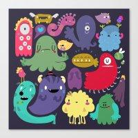 Colorful creatures Canvas Print