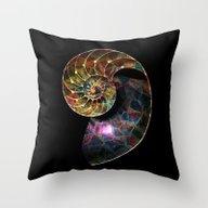 Fossilized Nautilus Shel… Throw Pillow