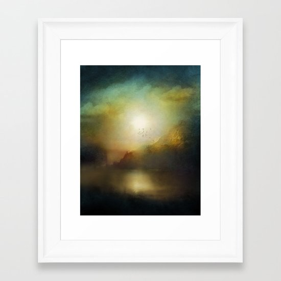 Poesia Framed Art Print
