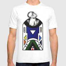 NDEBELE Mens Fitted Tee SMALL White