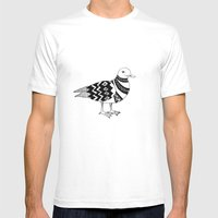 Stylish seagull Mens Fitted Tee White SMALL