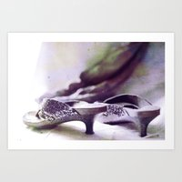 shoes Art Prints featuring Shoes by Felicia Caravaca