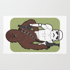 Chewbacca and Stormtrooper Rug