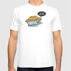 Not that Easy White SMALL Mens Fitted Tee