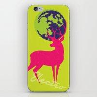 Electro deer iPhone & iPod Skin