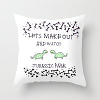 Lets Make Out And Watch … Throw Pillow