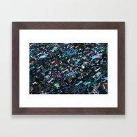 Berberian Pattern Blue Framed Art Print