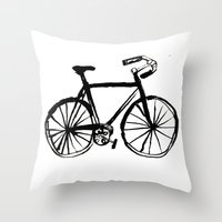 I Like Riding My Bicycle Throw Pillow