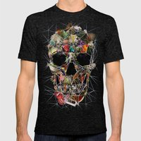 Fragile Skull Mens Fitted Tee Tri-Black SMALL