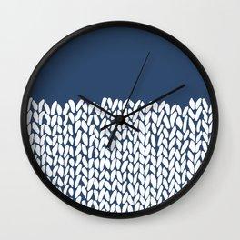 Wall Clock - Half Knit Navy - Project M