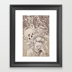 Self Destructive Personality Framed Art Print