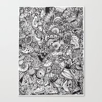 Detailed Rectangle, Blac… Canvas Print