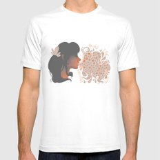 Bubbles White SMALL Mens Fitted Tee