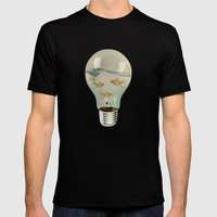 IDEAS AND GOLDFISH 03 Mens Fitted Tee Black SMALL