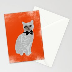 Wise cat with bow and tie Stationery Cards