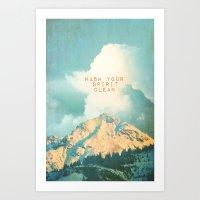 WASH YOUR SPIRIT CLEAN (… Art Print