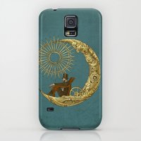 Galaxy S5 Cases featuring Moon Travel by Eric Fan