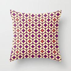 Repeated Retro - purple Throw Pillow