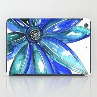 Blue Watercolor flower iPad Case
