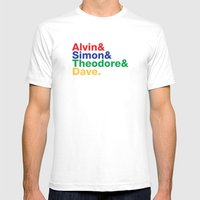 ALVIN&SIMON&THEODORE&DAV… Mens Fitted Tee White SMALL