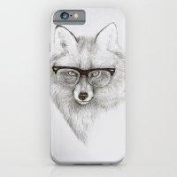 iPhone Cases featuring Fox Specs by Phil Jones