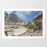 Trickles Of Chasm Lake Art Print