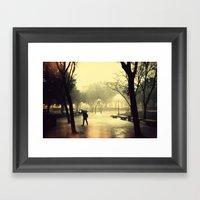 Rusty Rain Framed Art Print