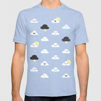 Forecast Feelings Mens Fitted Tee Tri-Blue SMALL