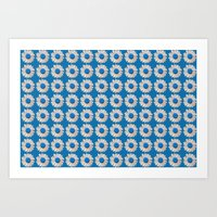 DAISIES DIRECT BLUE Art Print