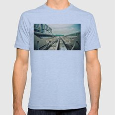 Train station Mens Fitted Tee Athletic Blue SMALL