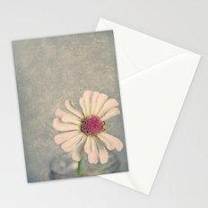 Zinnia Flower Still Life Painterly Stationery Cards