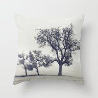 bleak trees... Throw Pillow