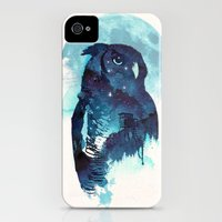 iPhone Cases featuring Midnight Owl by Robert Farkas