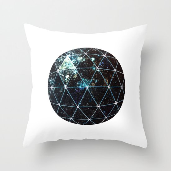 Galaxy Geodesic  Throw Pillow